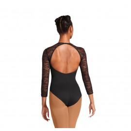 Baletni dres MESH KEYHOLE